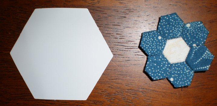 Quarter inch hexagons