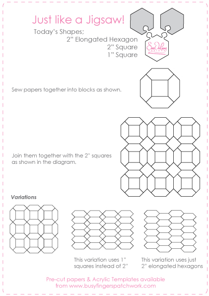 English paper piecing instructions