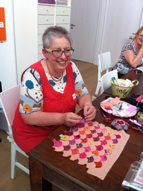 Katherina making clamshells 2