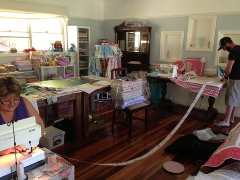 Im-sewing-corey-ironing