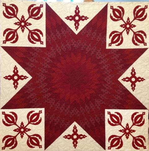Leonie Ruby Red Quilt